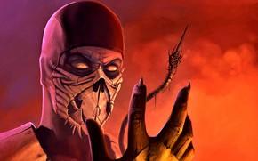 Картинка воин, Mortal Kombat, Scorpion, фан-арт, Хандзо, ниндзя-призрак, Хасаси, клана, Сирай-Рю