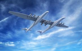 Картинка Самолет, Stratolaunch, Stratolaunch Model 351, Stratolaunch Systems