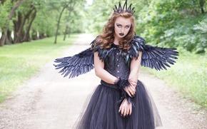 Картинка взгляд, девушка, Dark Angel