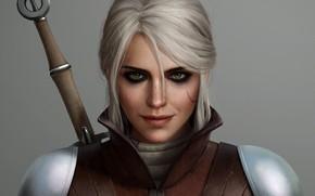 Картинка The Witcher 3 Wild Hunt, ciri, меч, девушка, Zireael, Cirilla Fiona Elen Riannon, ведьмачка, cirilla, ...