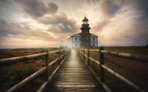 Обои lighthouse, Avilés, sky, Faro cabo de Peñas