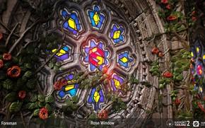 Картинка камень, Rose Window Substance, витраж