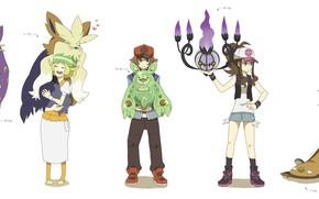 Картинка дети, аниме, арт, персонажи, Pokemon, покемоны