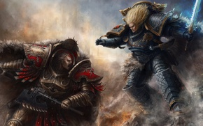 Картинка Warhammer 40000, Леман Русс, Warhammer 40k, Примарх, Angron, Leman Russ, Ангрон