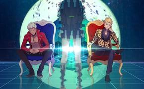 Картинка аниме, силуэт, парни, арчер, Fate / Stay Night