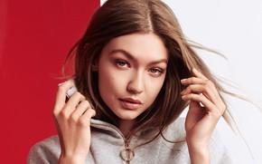 Картинка взгляд, девушка, лицо, фото, модель, Gigi Hadid