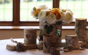 Картинка цветы, букет, вазы