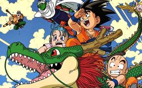 Картинка game, star, anime, dragon, asian, red star, god, Son Goku, oriental, asiatic, Dragon Ball, Goku, …