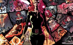 Обои рыжая, воспоминания, телепатия, комикс, Marvel Comics, X-men, Феникс, Джин Грей, Jean Grey