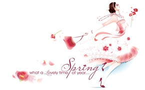 Обои весна, 8 марта, девушка, платье, сумка