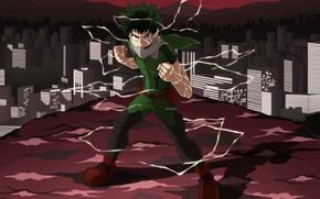 Картинка аниме, арт, парень, Boku no Hero Academia, Мидория Изуку, Моя геройская акадеимя