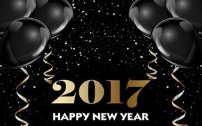 Картинка шары, Новый Год, new year, happy, decoration, 2017, holiday celebration
