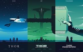 Обои постер, god of thunder, комикс, фан арт, art, Thor: Ragnarok, молот, MARVEL, Thor : The ...