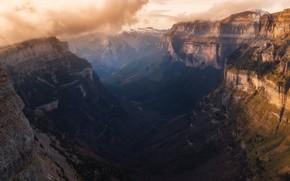 Картинка горы, тьма, каньон