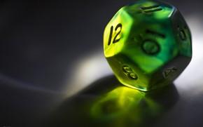 Картинка green, dice, hard plastic