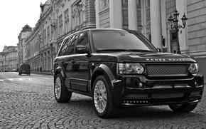 Картинка Range Rover, Black, Street, whells