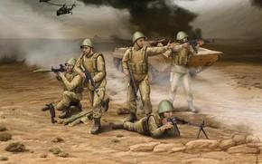 Картинка АКМ, Artwork, РПК, БМП-1, AK-74, РПГ-7, советские мотострелки, Soviet motorized infantry