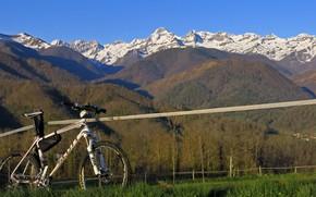 Обои природа, горы, велосипед, mountain bike