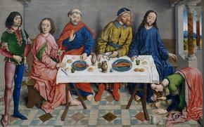 Картинка Религиозная живопись, Боутс Альбрехт, Фламандская живопись, Иисус у Симона Фарисея
