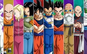 Картинка DBS, game, android, armor, anime, manga, sensei, Son Goku, kimono, Dragon Ball, Goku, Piccolo, kanji, …