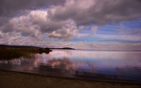 Картинка осень, озеро, рыбалка