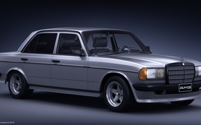 Картинка AMG, render, Mercedes - Benz, 3d, w123, model 3d