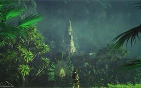 Картинка горы, женщина, сооружение, джунгли, Found