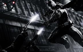 Картинка Игра, Бэтмен, Костюм, Драка, Пояс, Оружие, Герой, Стрельба, Маска, Плащ, Супергерой, Hero, Batman, Game, Револьвер, …