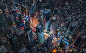 Обои город, дома, США, Нью Йорк