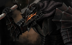 Картинка sword, game, armor, anime, man, ken, blade, Berserk, fang, manga, powerful, strong, Guts, bakemono, berserk …