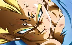 Картинка game, alien, anime, manga, powerful, Vegeta, Dragon Ball, strong, by rmehedi, Majin Vegeta