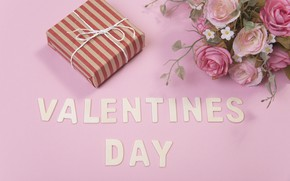 Картинка любовь, цветы, подарок, розы, love, розовые, pink, flowers, romantic, Valentine's Day, gift, roses