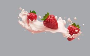 Обои Philadelphia VIVA Protein Smoothies, AJ Jefferies, арт, еда, сливки, виктория, минимализм
