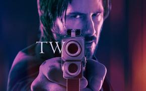 Картинка cinema, gun, pistol, hitman, weapon, two, movie, assassin, film, Keanu Reeves, John Wick, John Wick ...