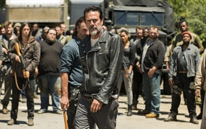 Обои Jeffrey Dean Morgan, Andrew Lincoln, Negan, Season 7, Rick Grimes, The Walking Dead