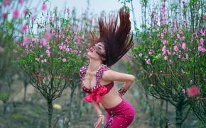 Обои волосы, восточная, танец, фигура, девушка, стиль