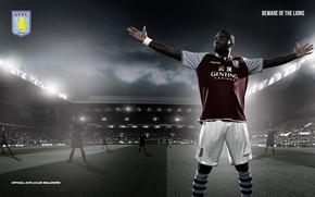 Картинка wallpaper, sport, logo, stadium, football, player, Aston Villa FC, Villa Park