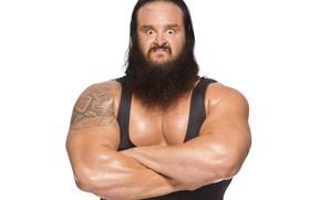 Картинка поза, мышцы, рестлер, тяжелоатлет, WWE, Браун Строуман, Raw, Braun Strowman