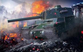 Картинка танк, art, world of tanks, wot, tank, Type 5 Heavy, wotart, anderarts, тайп 5 хеви
