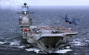 Обои в походе, авианесущий, Адмирал Флота Советского Союза Кузнецов, крейсер, тяжелый, ВМФ