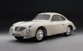 Обои ретро, фон, белое, спорт, купе, Германия, черное, Голиаф, 1951, Borgward, 1952, Бремен, Боргвард, Goliath GP700 ...