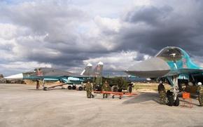 Обои солдаты, Су-34, Сирия, ВКС России