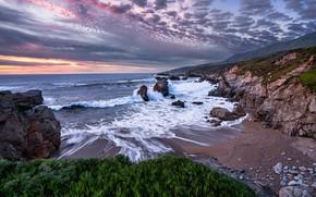 Картинка Green, nature, Ocean, Stones, Waves