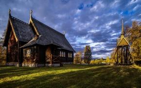 Картинка церковь, Швеция, Kvikkjokk