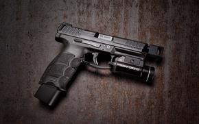 Картинка макро, пистолет, фон, HK VP9