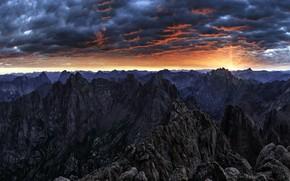 Картинка небо, горы, природа