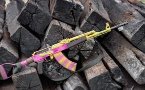 Картинка автомат, weapon, assault rifle, Fallout 4, акм, оужие, ak, akm
