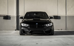 Картинка BMW, Front, Black, Face, F82, Strict, Sight