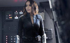 Обои girl, spy, brunette, agent, uniform, seifuku, S.H.I.E.L.D., Chloe Bennet, tv series, season 4, SHIELD, Daisy ...