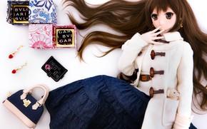 Картинка волосы, кукла, сумка, аксессуары